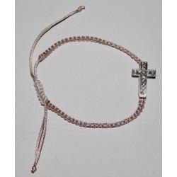 Браслет  ниточка плетеный крест с камешками 11-2 1200шт