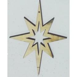 Звезда Вифлиемская 8х7 см без упаковки  сувениры из фанеры