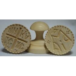 Печать для просфор дерев. диаметр 75мм 82,4 82,5