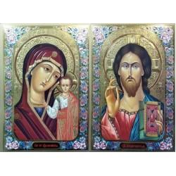 Казанская лик 33х47 конгрев Софрино Византия емаль цветная 1
