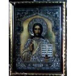 Иисус Византия Гобелен  30х40 в баг рамке