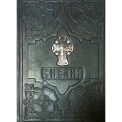 Библия в кож. переп. с метал. вставкой ГП (рус.А4) 20021