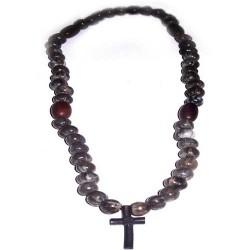 Четки 30, Слезы Богородици, гагатовый крест