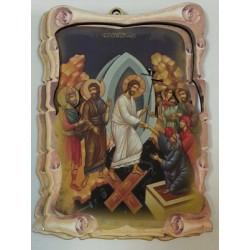 Воскресение Христово Сошествие в ад Иконы ЗД 9х13,5