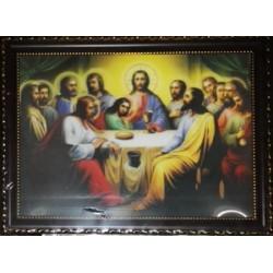 Тайная Вечеря Икона в баг.рам стерео 24х34  ПС622