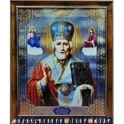 Николай  Икона в баг.рам. 38,5х48,5