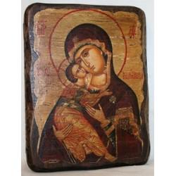 Владимирская Икона  Греческая под старину 14х17