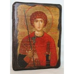 Георгий Икона  Греческая под старину 14х17