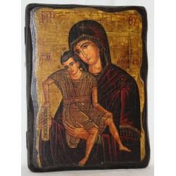 Достойно Есть Икона  Греческая под старину 14х17