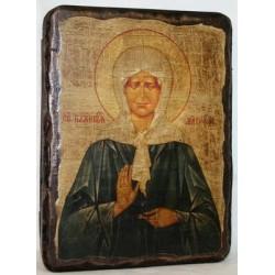 Матрона Икона  Греческая под старину 14х17