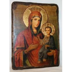 Иверская Икона  Греческая под старину 17х23 Пр
