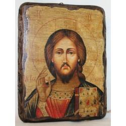 Спаситель Икона  Греческая под старину 17х23 Пр