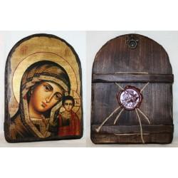 Казанская Икона  Греческая под старину 17х23  Арка