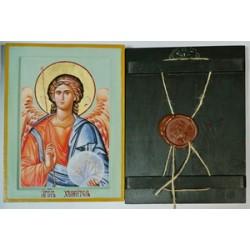 Ангел Хранитель Икона Греческая писаная  в коробке 17*23