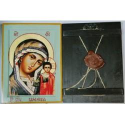 Казанская Икона Греческая писаная  в коробке 17*23