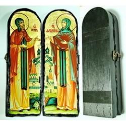 Петр и Февронья Складень Д2 под старину