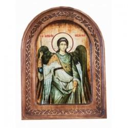 Михаил Икона  АНТИК  с резьбой в коробке13х17