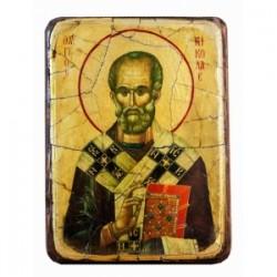 Николай Икона  Греческая под старину ФРЕСКА 13х17