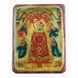 Прибавление Ума Икона  Греческая под старину ФРЕСКА 13х17