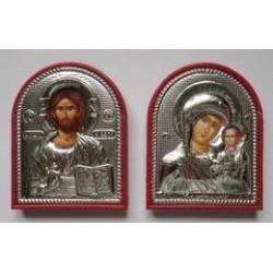 Арочная икона  пластмассовая с ризой  (1113-138) в ящ 600 шт цена за пару