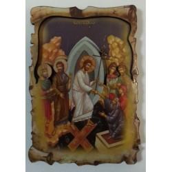 Воскресение Христово Сошествие в ад Иконы ЗД 5х7,5