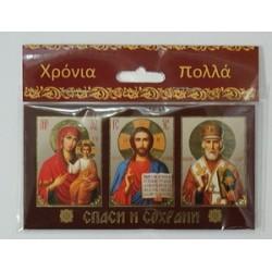 Смоленская+Спаситель+Николай Тройник карт.на липучке 8 х 10