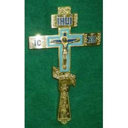 11 Крест восьмиконечный большой с голубым