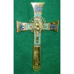 13 Крест мальтийский с голубым