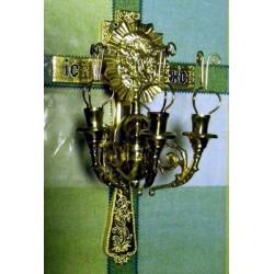 19 Трехсвечник с крестом Пасхальный