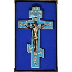 Кресты металлические SV 17 (бронз. КРАСН. цв. ГОЛУБАЯ ЭМАЛЬ) КИТАЙ