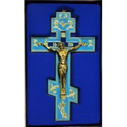 Кресты металлические SV 17 (ЗОЛ.цв.ГОЛУБАЯ ЭМАЛЬ) КИТАЙ
