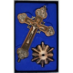 Кресты металлические КР 16  (бронз. КРАСН. цв.)