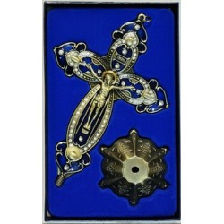 Кресты металлические КР 18  (бронз. серый ЗЕЛ. цв.)