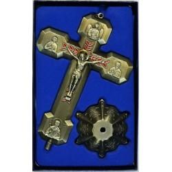 Кресты металлические КР 19  (бронз. ЗЕЛ. цв.)