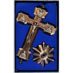 Кресты металлические КР 19  (бронз. КРАСН. цв.)