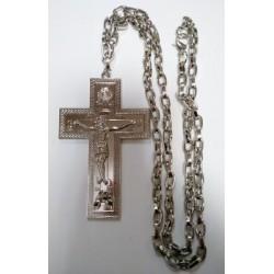 Крест протоиерейский с цепочкой  SV13   (12 х 6,5 см (сер. цв.))