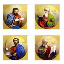 Лик 15х15 (Евангелисты) (4 иконы комплект))