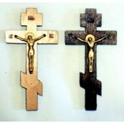 Крест распятье, дерево 2 (пластм. распятие.)