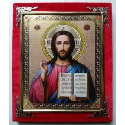 Иисус ДСП 15х18 одиночка бархат