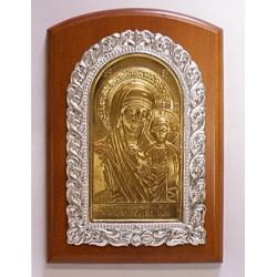Икона на дереве литье Казанская  Пр-ца11х15см