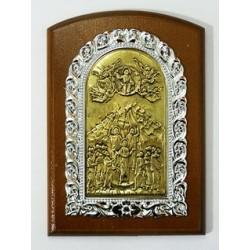 Икона на дереве литье Коронация  Пр-цы11х15см