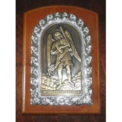 Икона на дереве литье Михаил 11х15см