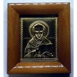 Икона на дереве литье Николай 6,5х8 см
