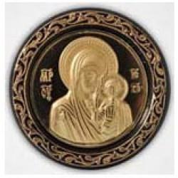 Икона пл.с метал. изображением квадр. Казанская