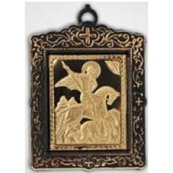 Икона пл.с метал. изображением квадратная св. Георгий