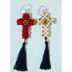 Крест из  БИСЕРА  на присоске