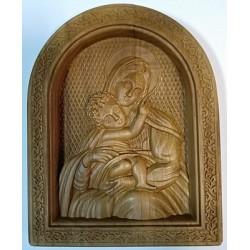 Богородица Иконы из дерева РЕЗНЫЕ 16х20см
