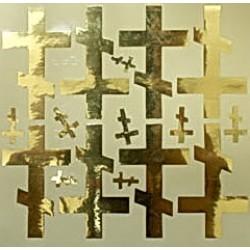 Крест наклейка  Лист (набор )