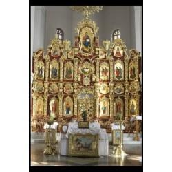 Иконостас храмовый 11г 6800х5500 290000 грн позолота 55000$