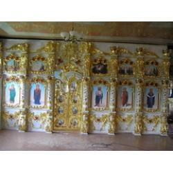 Иконостас храмовый 5г 5200х3000 145000грн позолота 20000$